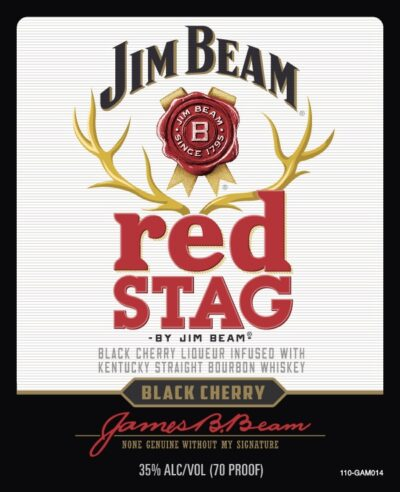 Jim Beam Red Stag Label
