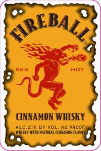 Fireball Cinnamon Whisky Label